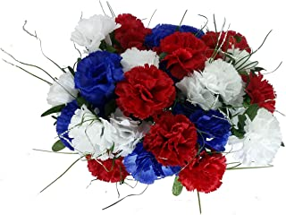 red white carnations