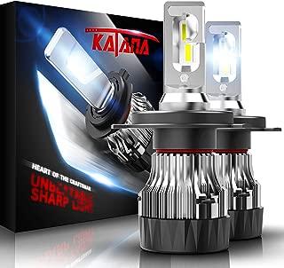 KATANA H4 LED Headlight Bulbs w/Mini Design,10000LM 6500K Cool White CREE Chips 9003 All-in-One Conversion Kit