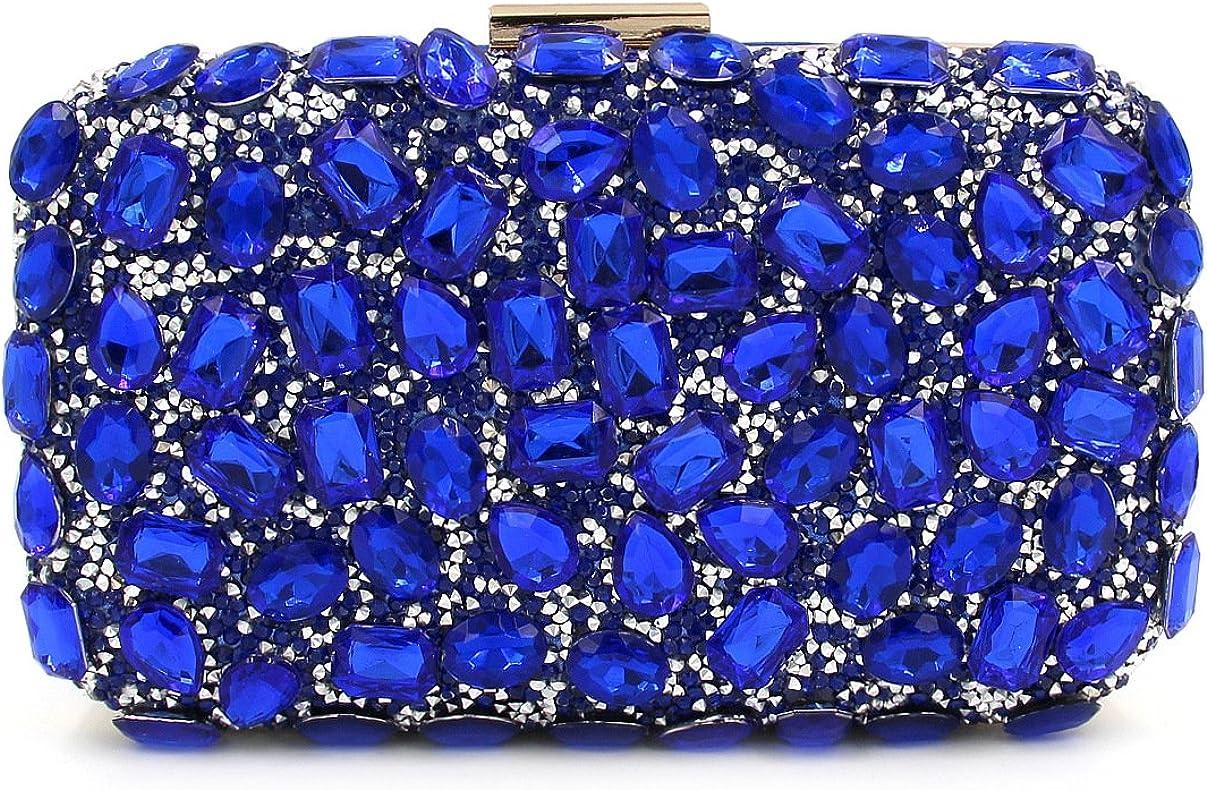 Flada Luxury Rhinestone Clutch Purse for Women Evening Clutch Bags with Chain