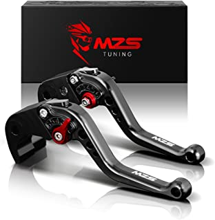 MZS Short Brake Clutch Levers Compatible with Yamaha FZ-09 MT-09 SR 2014-2018| SCR950 2017-2018| XJ6 DIVERSION 2009-2015| XSR 700 ABS 2016-2019| XSR 900 ABS 2016-2019| XV 950 Racer 2016-2018 Black
