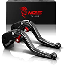 MZS Short Brake Clutch Levers Compatible with Yamaha YZF R1 2004-2008| YZF R6 2005-2016 Black