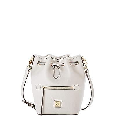 Dooney & Bourke Saffiano Small Drawstring Crossbody (Ecru) Handbags