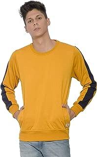 Alan Jones Men's Cotton Solid Panelled Sweatshirt