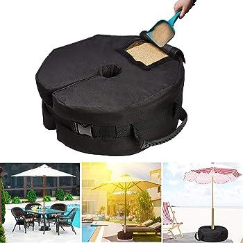 grande apertura per la sabbia Umbrella Base, BLACK YELAIYEHAO un pezzo unico ombrello base fillable portaombrelli titolare allaperto patio ombrelli