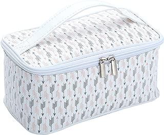 HOYOFO Womens Cosmetic Bags Arrow Makeup Storage Case Handle Toiletry Bag, L