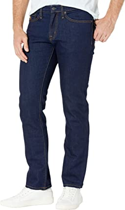 Slim Straight Stretch Jeans in Blue