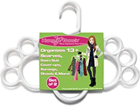 Hang A Bunch Scarf Hanger, White, Set of 2