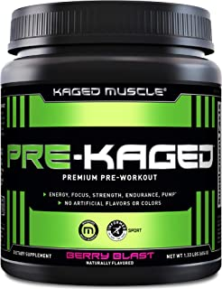 Sponsored Ad - Pre Workout Powder; KAGED MUSCLE Preworkout for Men & Pre Workout Women, Delivers Intense Workout Energy, F...