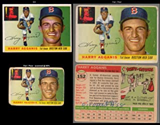 1955 Topps Regular (Baseball) card#152 Harry Agganis of the Boston Red Sox Grade Excellent to Excellent Mint