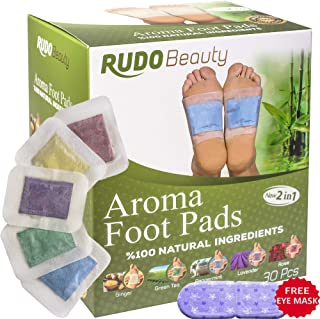 Foot Pads by Ru-do Beauty   30 Pcs   Aromatherapy & Body Relief Pads   All Natural & Premium Ingredients   Apply, Sleep & Feel Better   Upgraded 2in1 Design