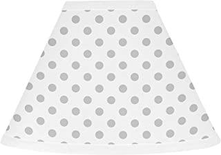 Sweet Jojo Designs Grey and White Polka Dot Lamp Shade for Watercolor Floral Collection
