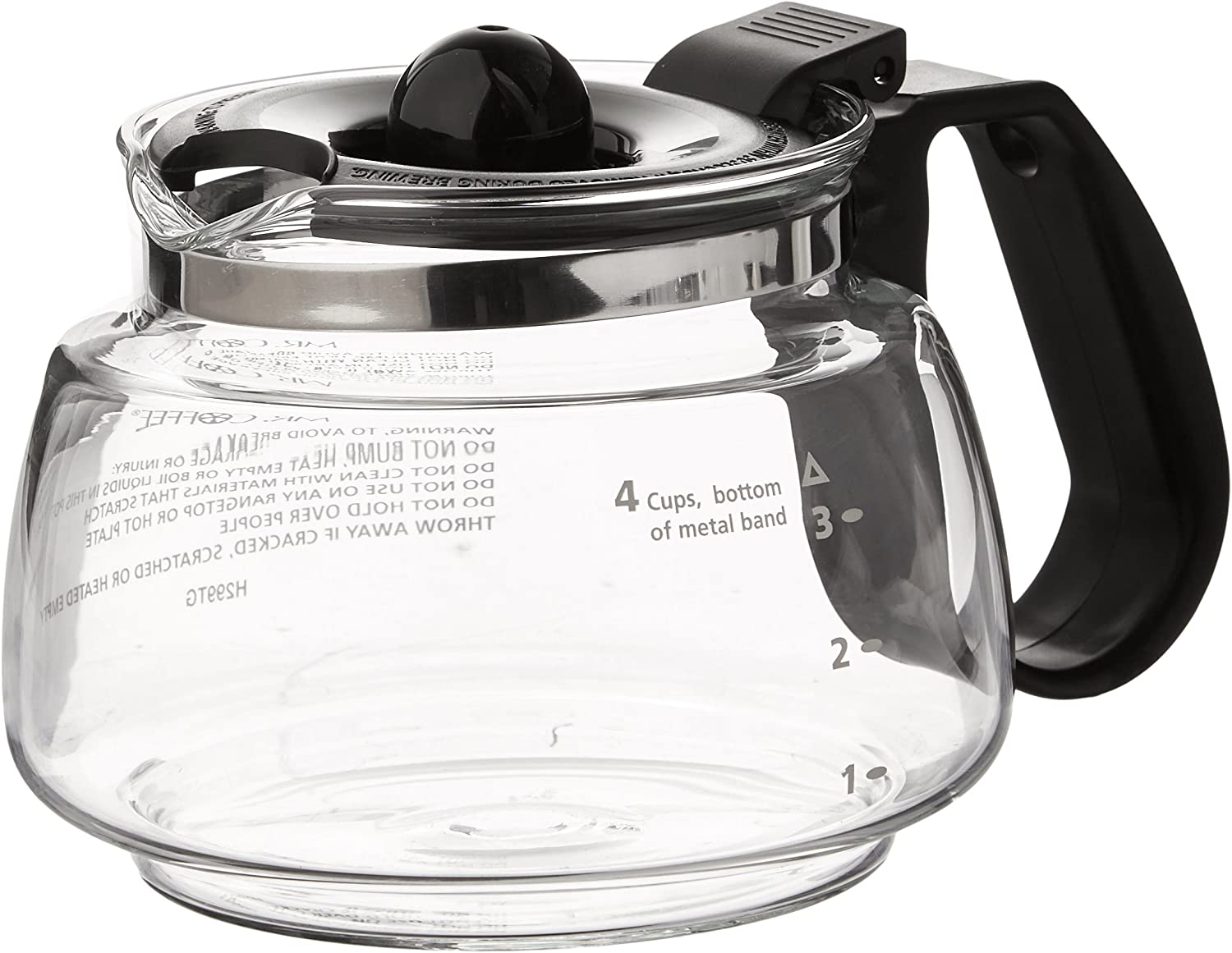 Mr. Coffee Replacement 4-Cup Carafe, Black