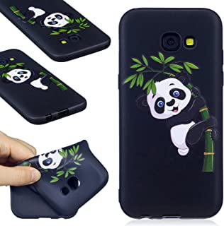 Galaxy A5 2017 Case, FIREFISH Flexible TPU Gel Silicone Embossed Printing [Anti Slip] [Scratch Resistances] Easy Grip Back Cover Shell for Samsung Galaxy A5 (2017) -Panda-B
