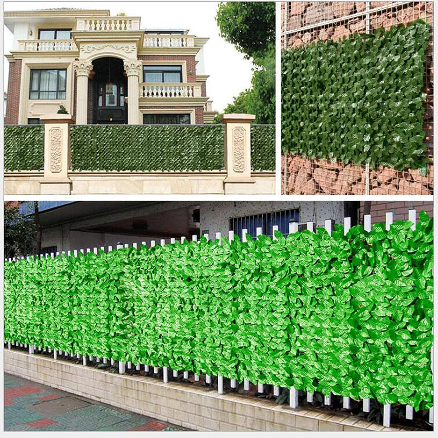 Artificial Ivy Hedge Fencing Indoor//Outdoor Faux Leaf Privacy Fence Screen Decoration Panels Balcony Privacy Screen