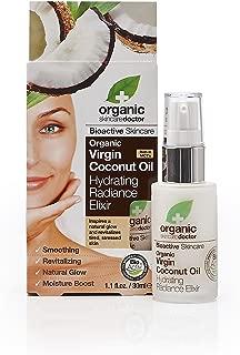 Organic Doctor Virgin Coconut Oil, Hydrating Radiance Elixir, 1.1 Fluid Ounce