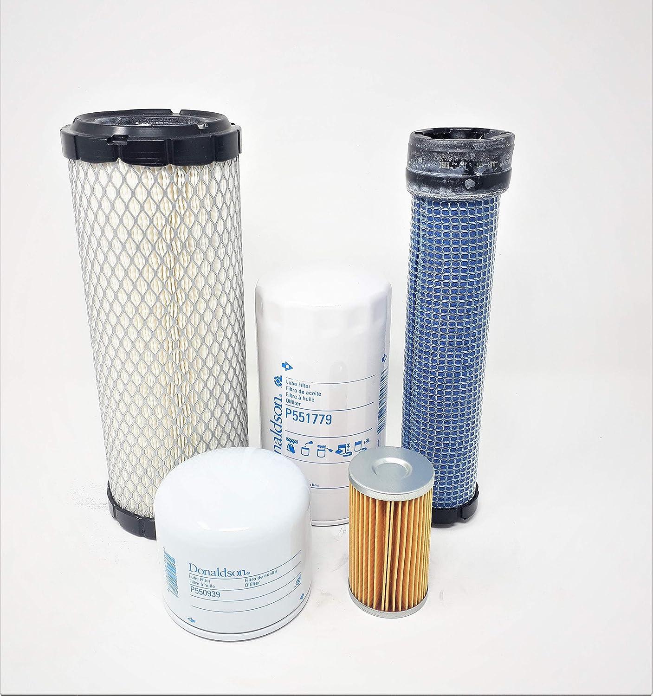 Kubota L3010 L3130 L3410 L3430 HST Models Filter CFKIT Maintenance Kit (All Donaldson)