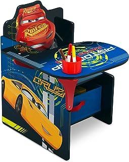 Delta Children Chair Desk with Storage Bin - Ideal for Arts & Crafts, Snack Time, Homeschooling, Homework & More, Disney/Pixar Cars