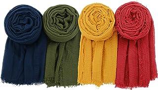 Zando Women Head Scarf Lightweight Head Wraps Long Scarf Soft Scarf Shawl Travel Turbans Headwraps Hijab for All Season