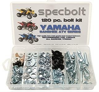 Specbolt Fasteners Brand Bolt Kit: Banshee YFM350 Model Series ATV Bolt Kit (120 pc)