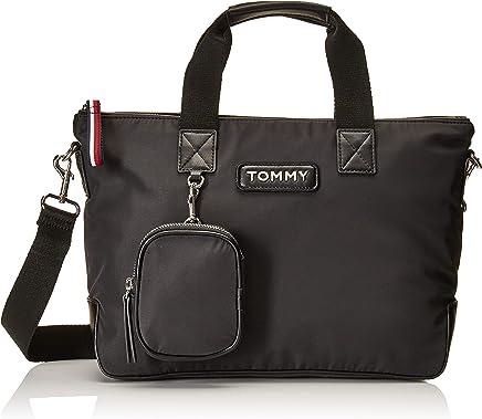 c2107061410 Tommy Hilfiger Varsity Nylon Small Tote Black