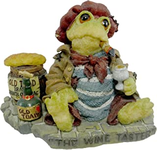 Boyds Bears Resin JACQUES GRENOUILLE WINE TESTER 36702 RFB Frog Wee Folkstone Cigar 1E New
