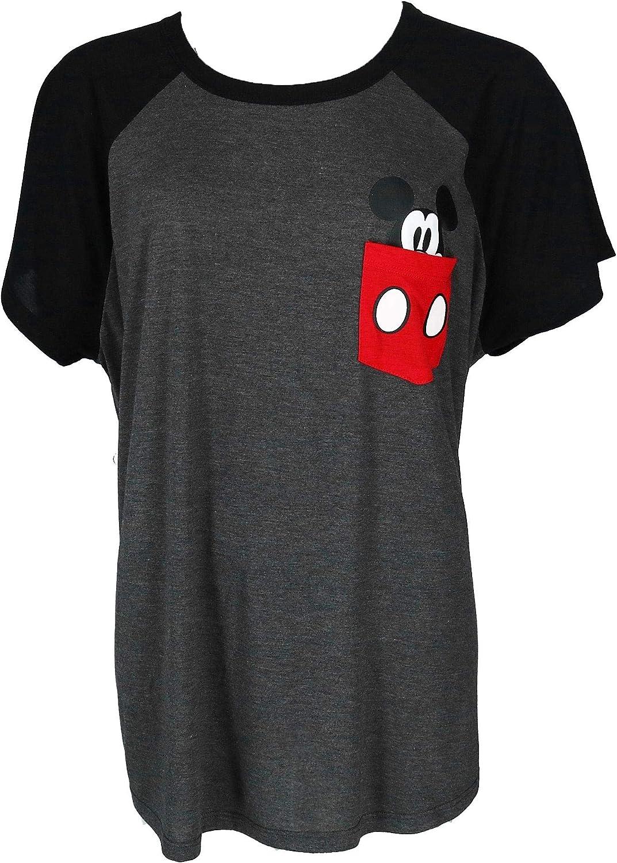 Mickey Mouse Pocket Sized Women's Grey Tee Shirt