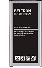 BELTRON New 3220 mAh Replacement Battery for Samsung Galaxy Note 4 (SM-N910 AT&T Sprint T-Mobile US Cellular Verizon) EB-BN910BBU
