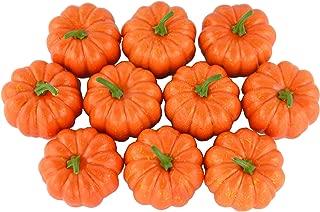 JEDFORE Fake Fruit Home House Kitchen Decoration Artificial Lifelike Simulation Mini Pumpkins Halloween Thanksgiving Day House Decoration - Set of 10 - Orange