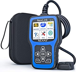 NEXAS NL101 Full OBD2 Scanner - Check Engine Light Car Code Reader All Automotive Diagnostic Tool Fault Code Scanner with ...