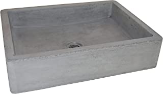 Native Trails NSL1915-A Nipomo Native Stone Universal-Mount Bathroom Sink, Ash