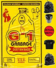G1 Garbage Bags And Covers Medium Size Black Color 19 X 21 Inch 900 Pieces
