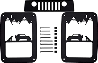 Bulletproof Mounting Solutions Jeep Wrangler Tail Light Covers – Precision Made Rustproof Tail Lamp Guards with Hardware for 2007-2018 JK and JKU (Best Friend 3rd)