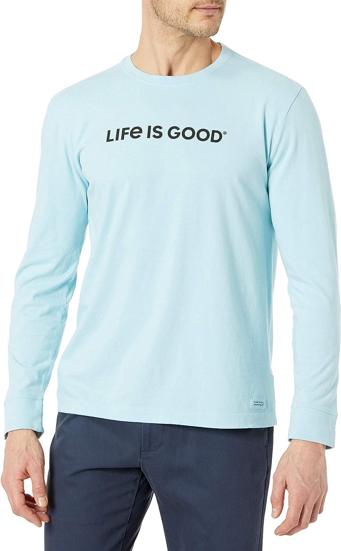 Life is Good Men's Long T-Shirt NEW Graphic Crusher Sleeve Award