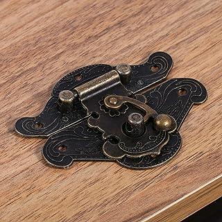 sieraden doos klink hasp, eenvoudig te installeren klink hasp, kast hasp, sieraden doos voor vintage houten kist voor zwar...
