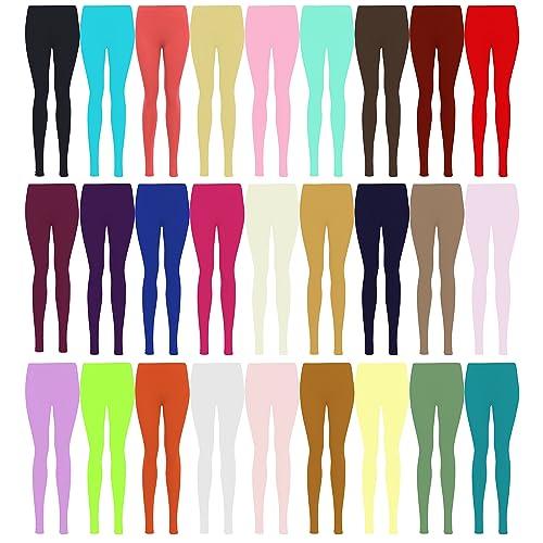 261f9178d LessThanTenQuid Missloved ™ Plus Size Plain Stretchy Viscose Lycra Leggings  UK Sizes 12-26