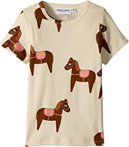mini rodini - Horse Short Sleeve T-Shirt (Infant/Toddler/Little Kids/Big Kids)
