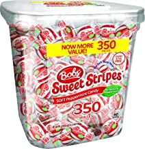 Bob's Sweet Stripes Soft Peppermint Candy, 350 Count, 61.73 Ounces