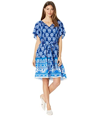 Johnny Was Yao Short Sleeve Cover-Up (Multi) Women