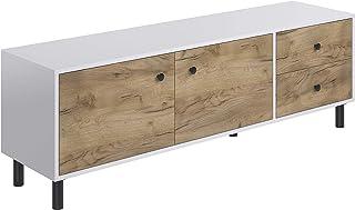 Movian Aggol Rustic - Mueble para TV de 2 puertas con 2 cajones 40 x 160 x 52 cm (Efecto Roble)