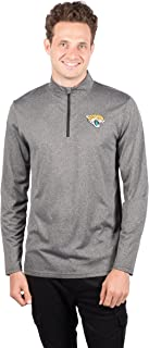 NFL Ultra Game Men's Quarter Zip Athletic Quick Dry Pullover Tee Shirt