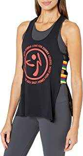 Zumba Fitness® Women's Graphic Design Loose Open Side Tank