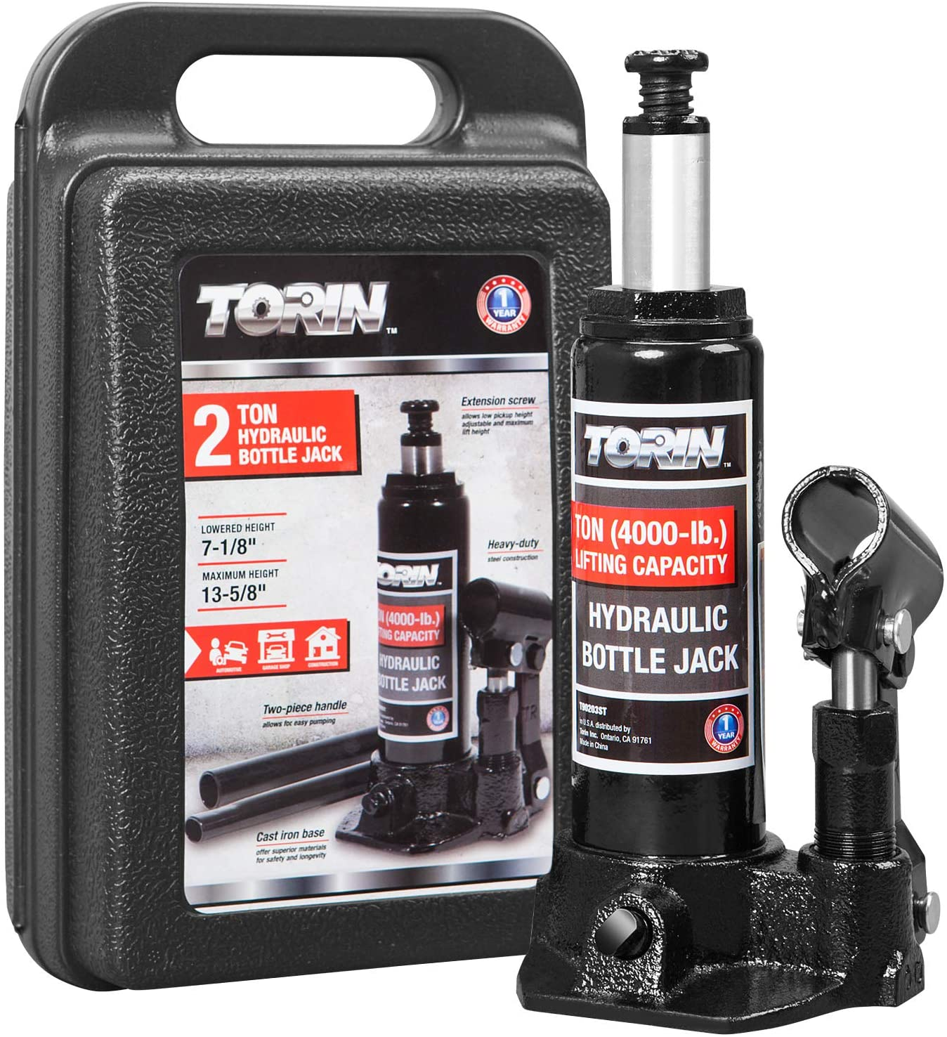 Max 76% OFF Torin TAM90203S Hydraulic Welded Fresno Mall Bottle Mold Carr Blow with Jack