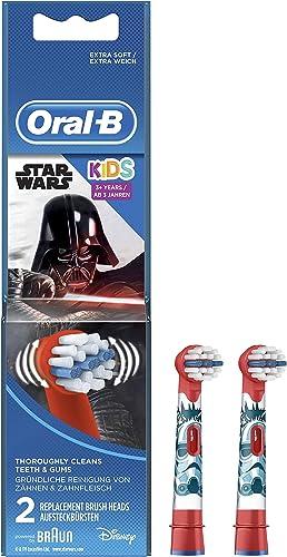 Oral-B Kids Brossettes De Rechange Star Wars x2, Enfants de 3 ans et plus, Recharge Originale Pour Brosse À Dents Éle...