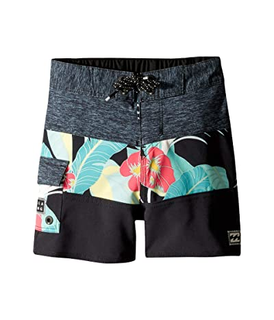 Billabong Kids Tribong Pro Boardshorts (Big Kids) (Black) Boy