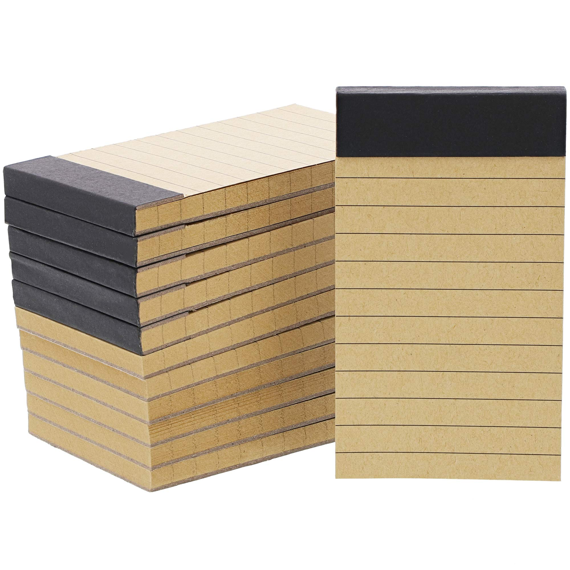 Mini To Do List Notepads with Kraft Paper (2 x 4 Inches, 12-Pack)