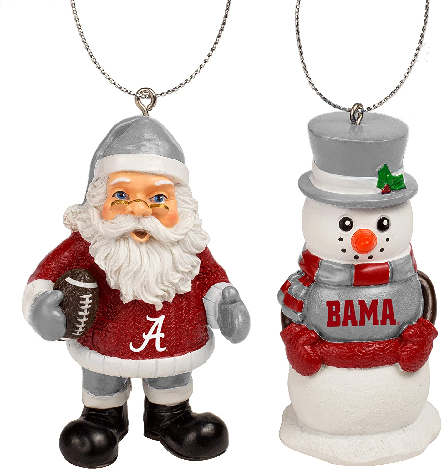 St Nick and Snowman 2 Pack Ornament Set NCAA Unisex