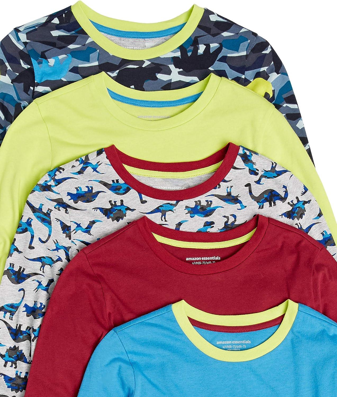 Lot de 5 Essentials Long-Sleeve T-Shirts Fashion-t-Shirts Gar/çon
