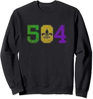 Mardi Gras 504 Sweatshirt Nola New Orleans Louisiana LA 2019