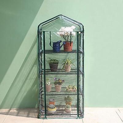 Worth 4 Tier Mini Greenhouse Indoor Outdoor Kit...