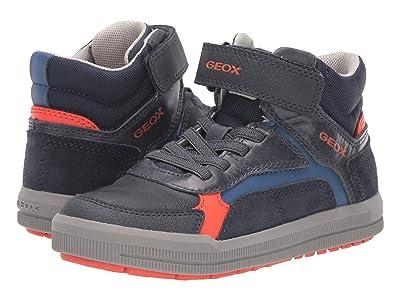 Geox Kids Jr Arzach 14 (Little Kid/Big Kid) (Navy/Orange) Boys Shoes